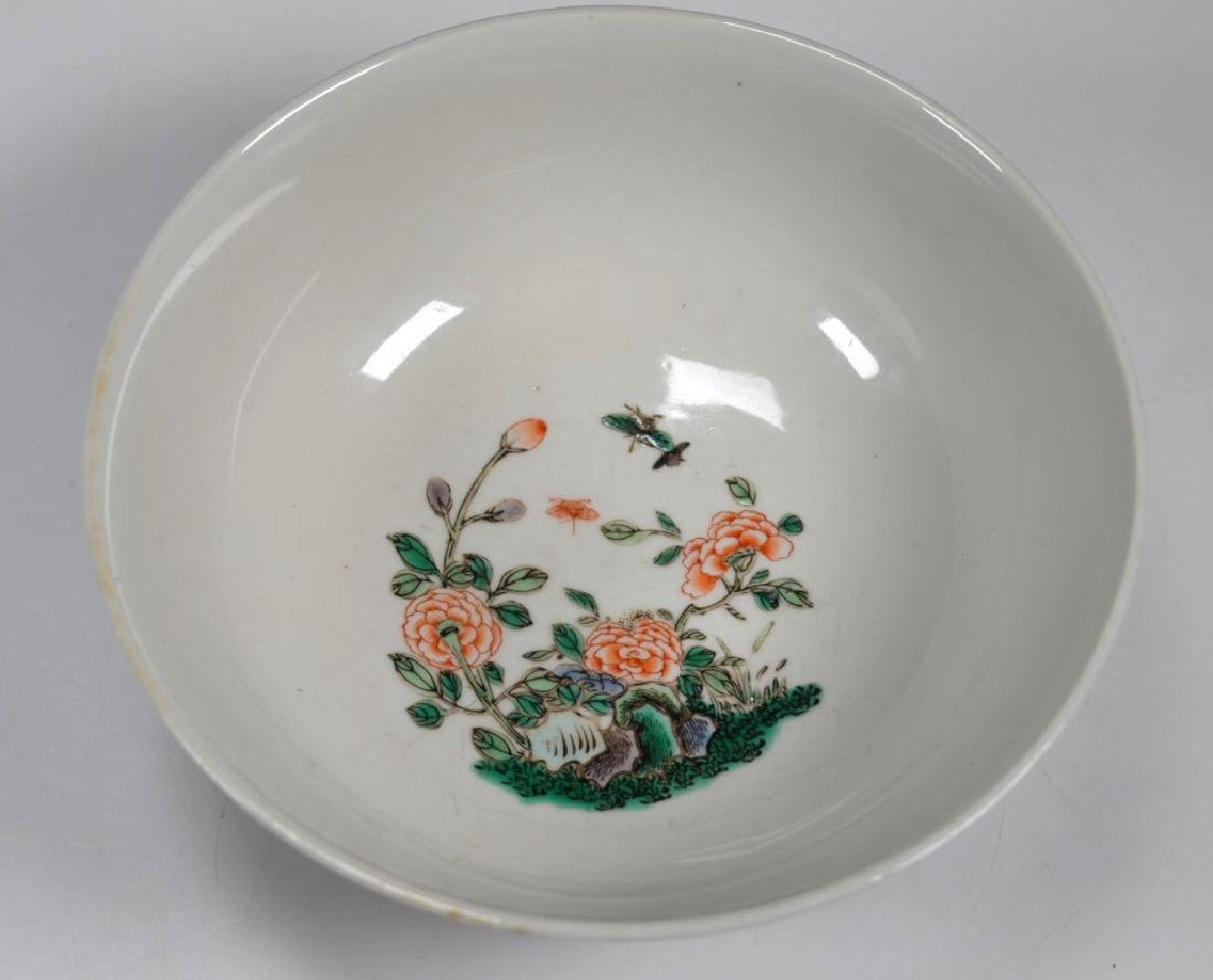 Fine Qing Chinese Famille Verte Porcelain Bowl - 6