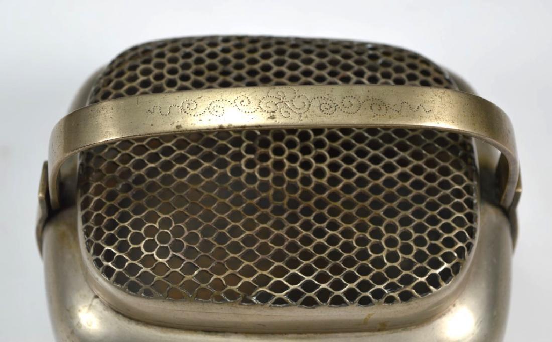 19thC Chinese White Bronze Blue Enamel Hand Warmer - 6