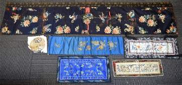 6  Various Fine Antique Chinese Silk Embroideries