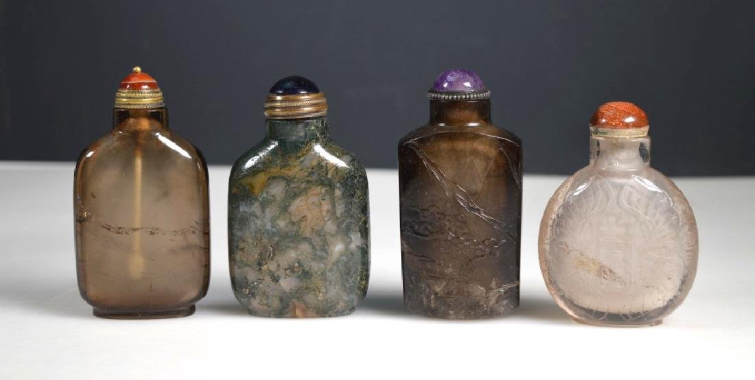 4 - 19th C Chinese Carved Snuff Bottles