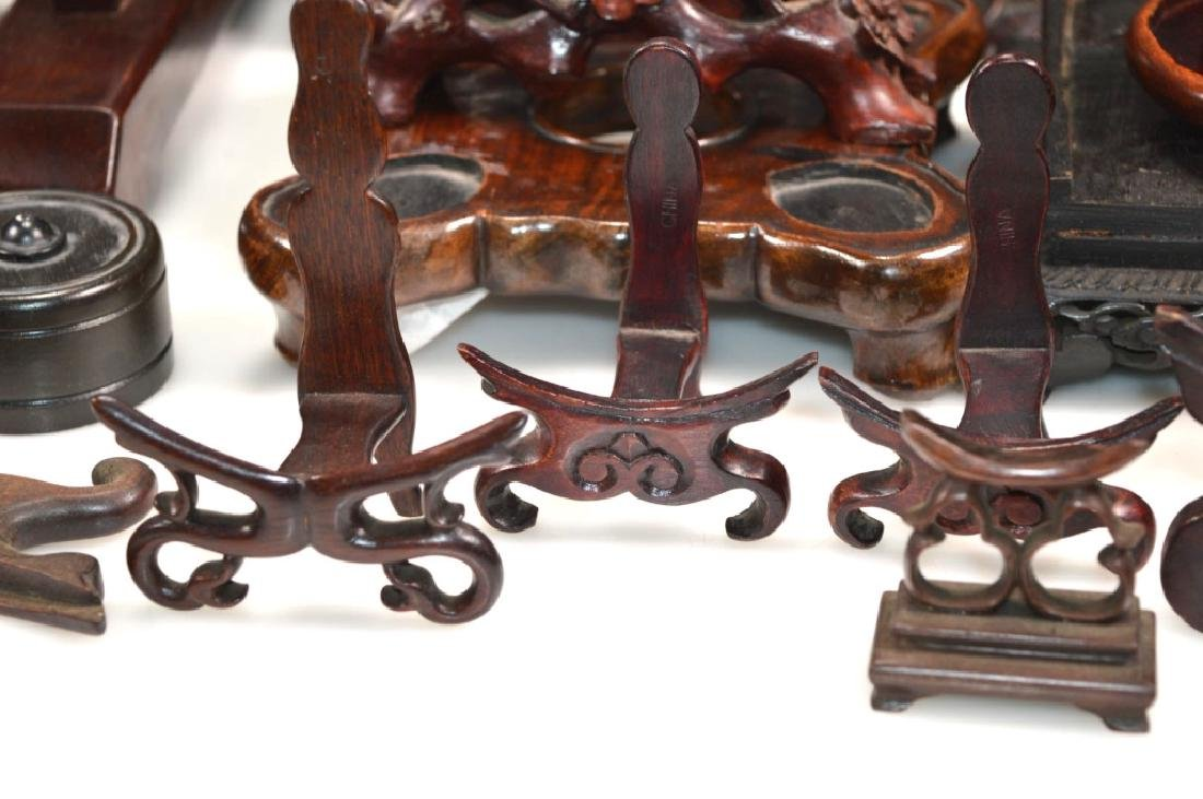 27 - Chinese Hardwood Shaped Stands - 2