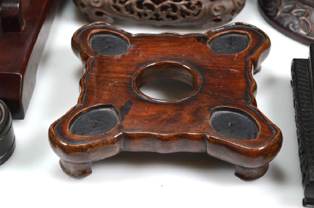 27 - Chinese Hardwood Shaped Stands - 7