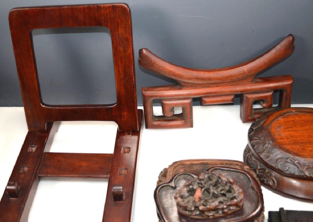 27 - Chinese Hardwood Shaped Stands - 8