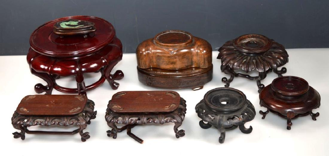 9 - Assorted Chinese Hardwood Stands