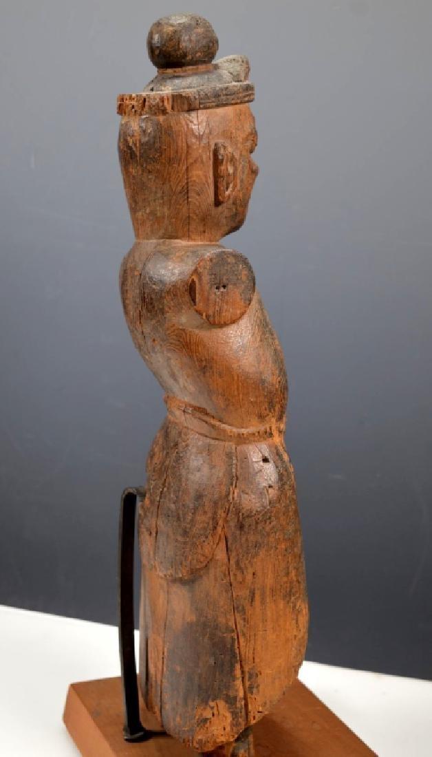 Christie's; Heian Japanese Wood Guardian - 5