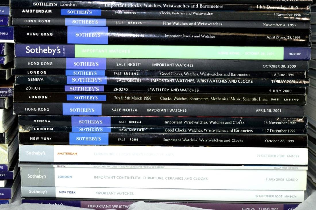 92 Sotheby's Auction Catalogues for Watches - 5