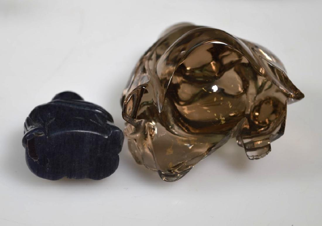 6 - Chinese Crystal, Agate, Jade Carvings - 4