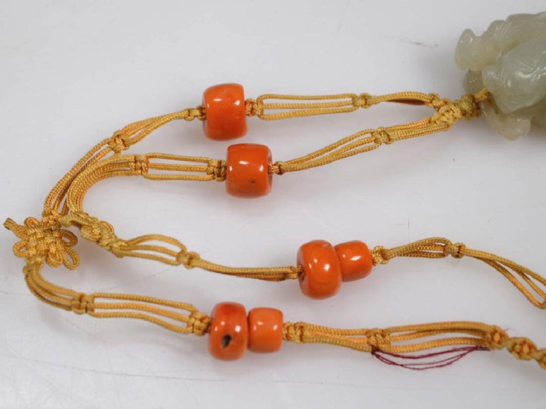 2 Chinese Hardstone & Coral Bead Necklaces - 6