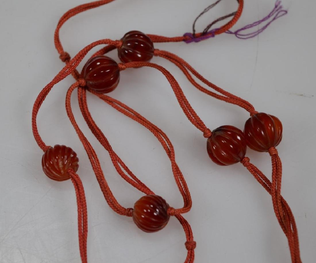 2 Chinese Hardstone & Coral Bead Necklaces - 9