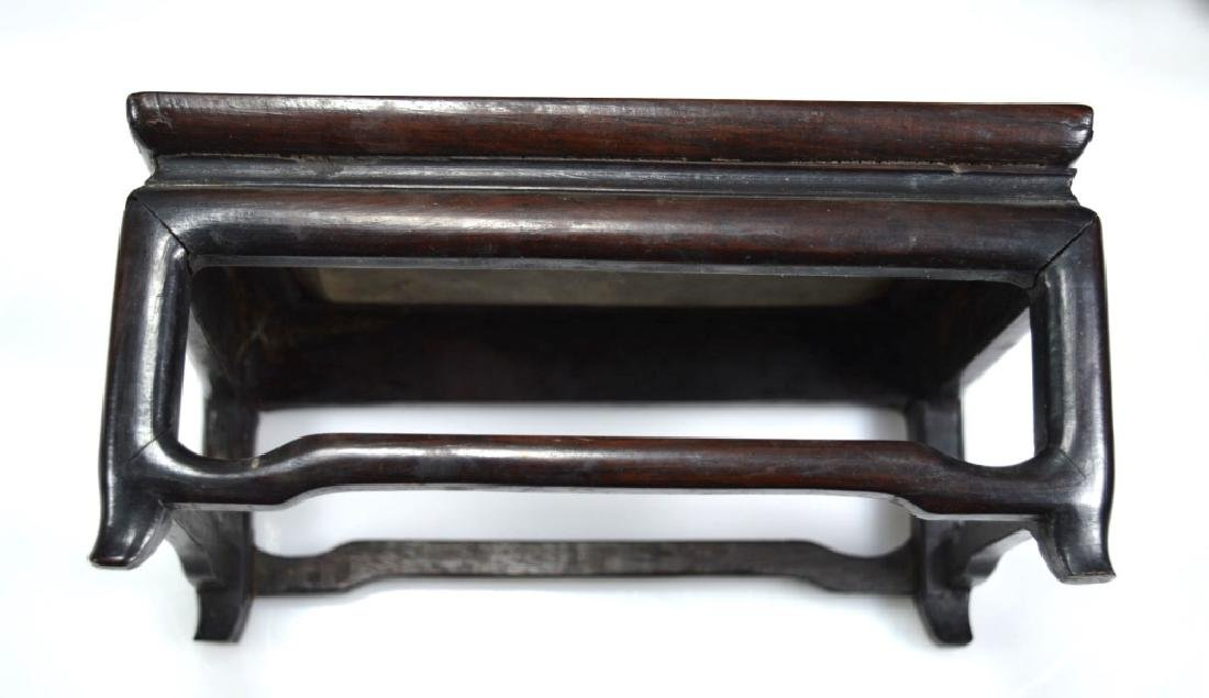 2 Antique Chinese Hardwood Stands - 3