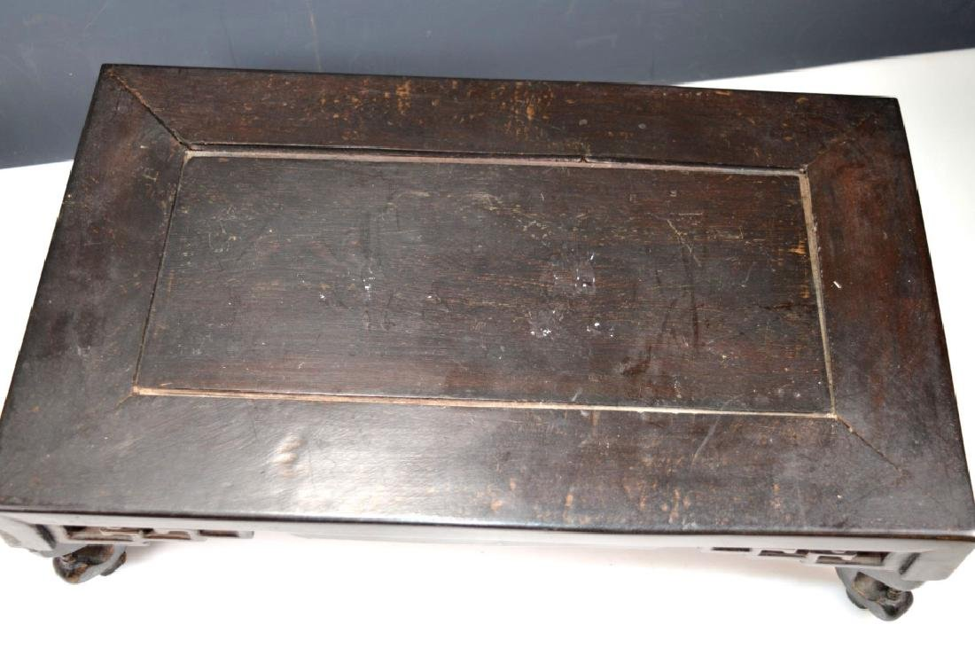 2 Antique Chinese Hardwood Stands - 5