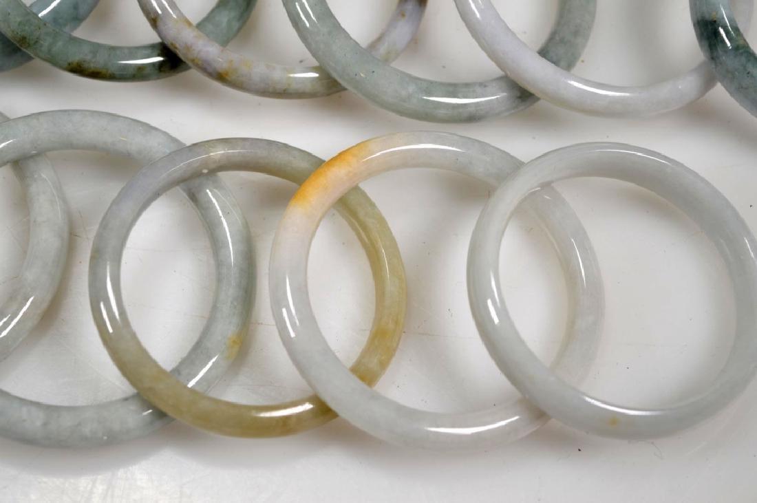 16 Chinese Polished Jadeite Bangles - 2
