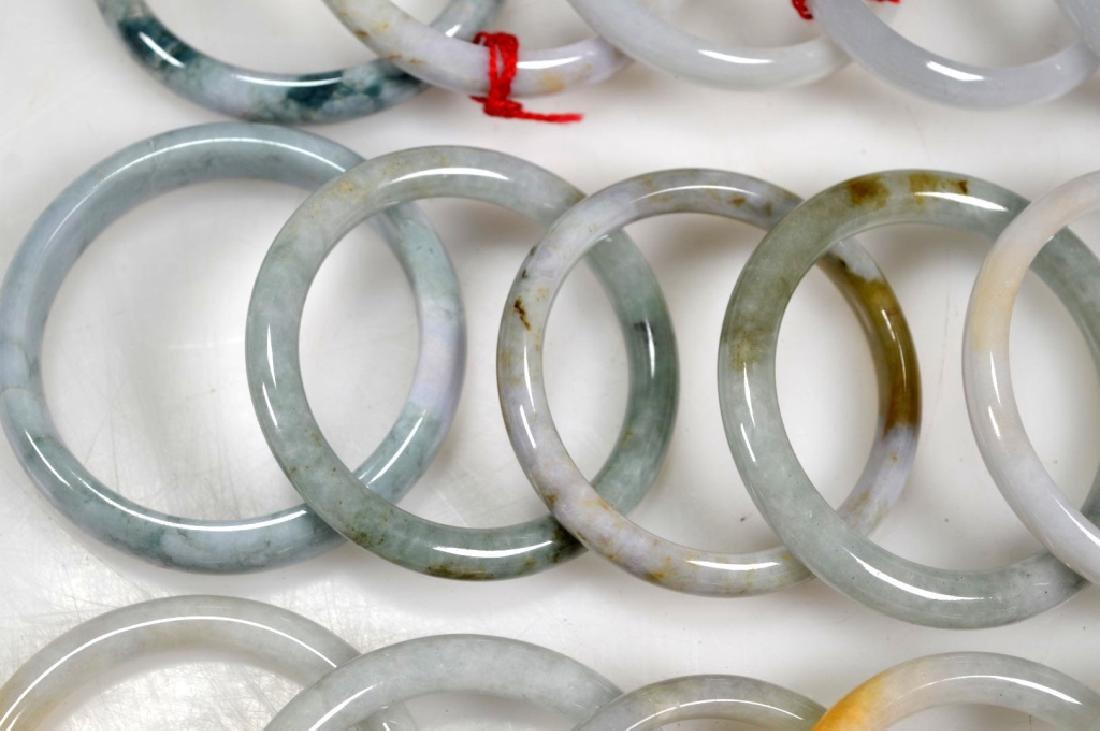 16 Chinese Polished Jadeite Bangles - 3