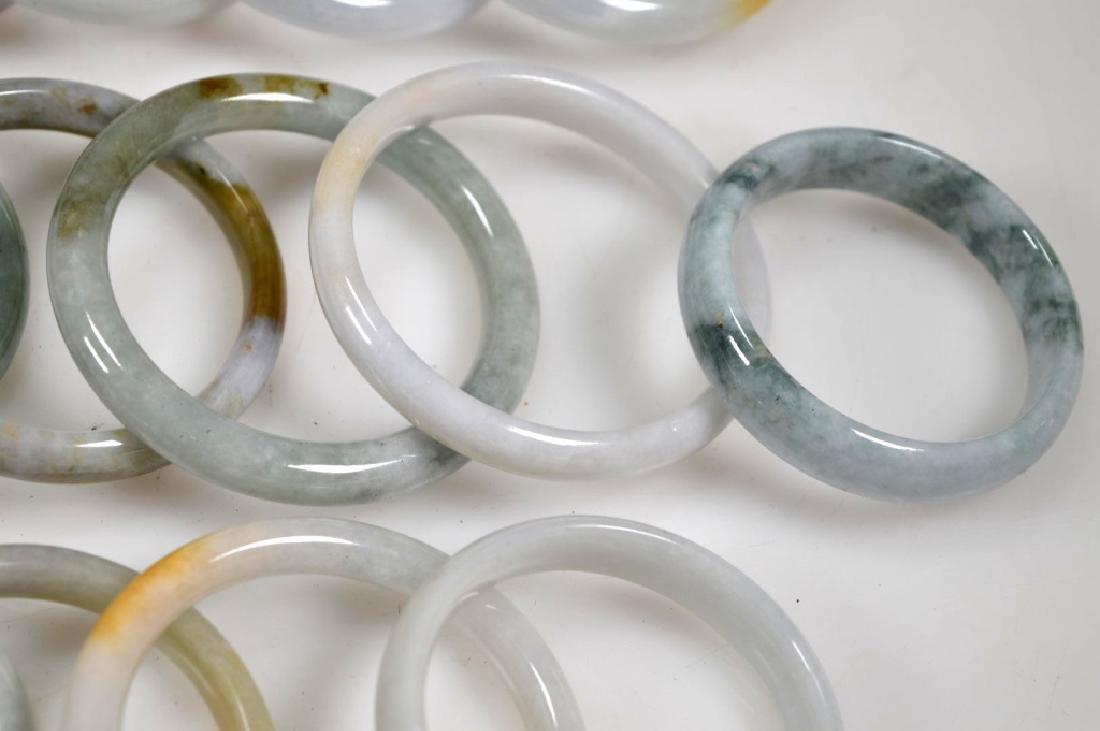 16 Chinese Polished Jadeite Bangles - 5