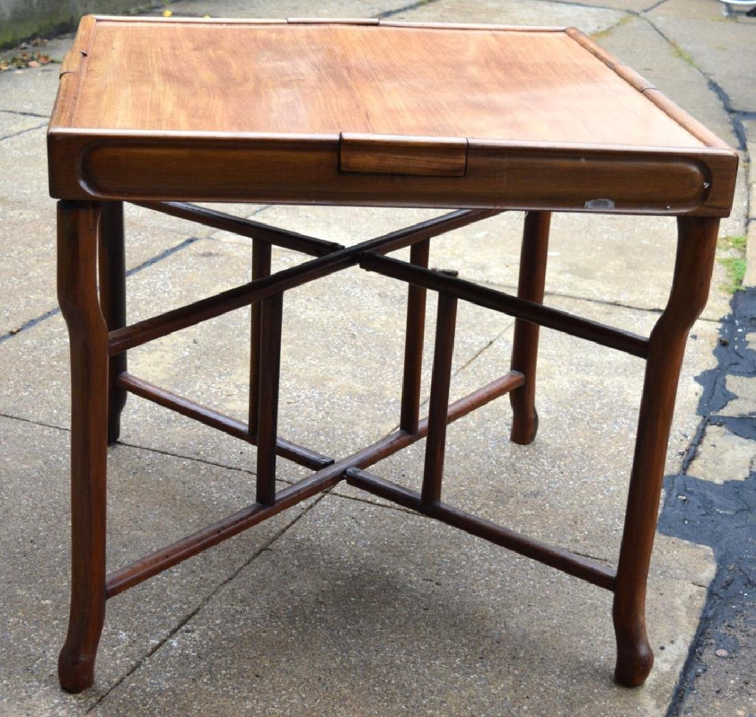 Sotheby's: Fine Sq Chinese Hardwood Folding Table - 2