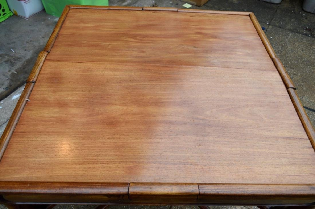 Sotheby's: Fine Sq Chinese Hardwood Folding Table - 3