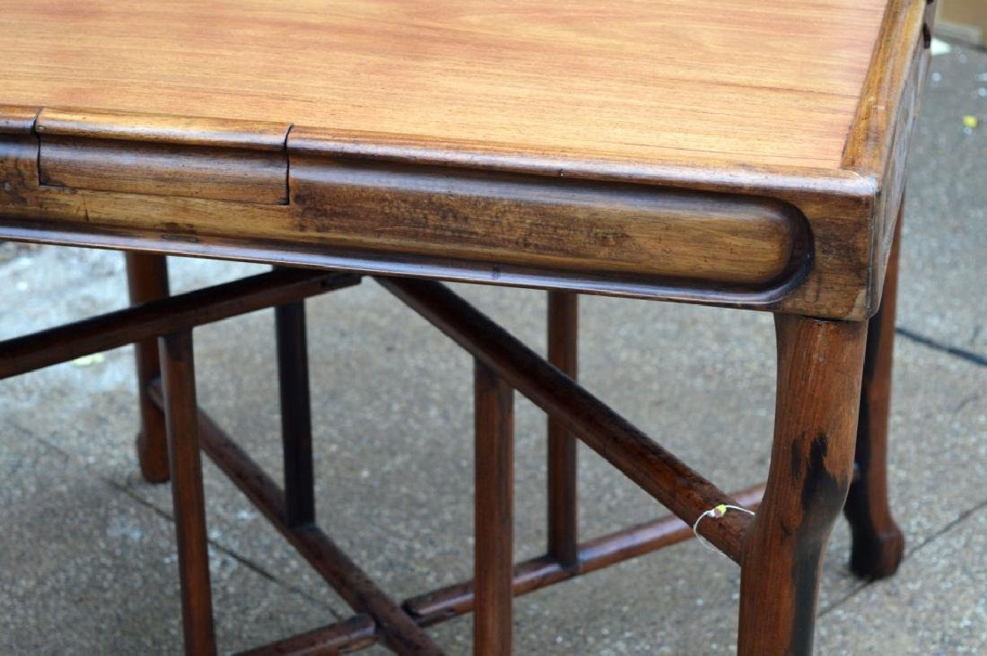 Sotheby's: Fine Sq Chinese Hardwood Folding Table - 4