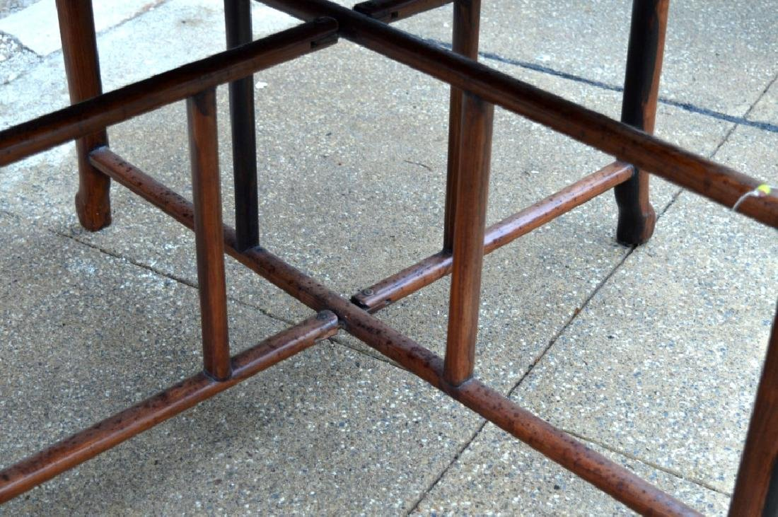 Sotheby's: Fine Sq Chinese Hardwood Folding Table - 5