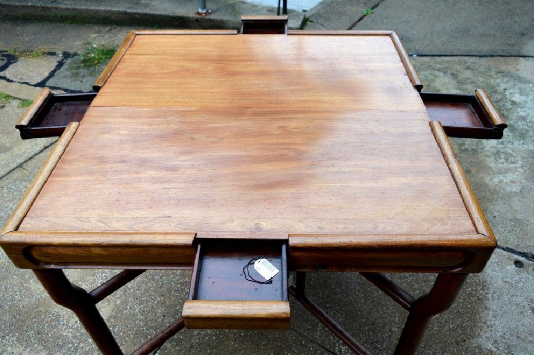 Sotheby's: Fine Sq Chinese Hardwood Folding Table - 8
