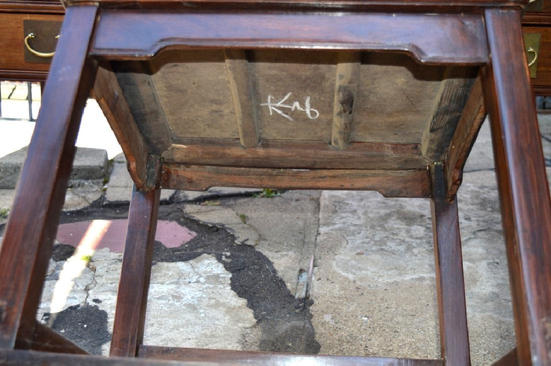 19th C Chinese Huali Wood 5 Drawer Desk & Chair - 8