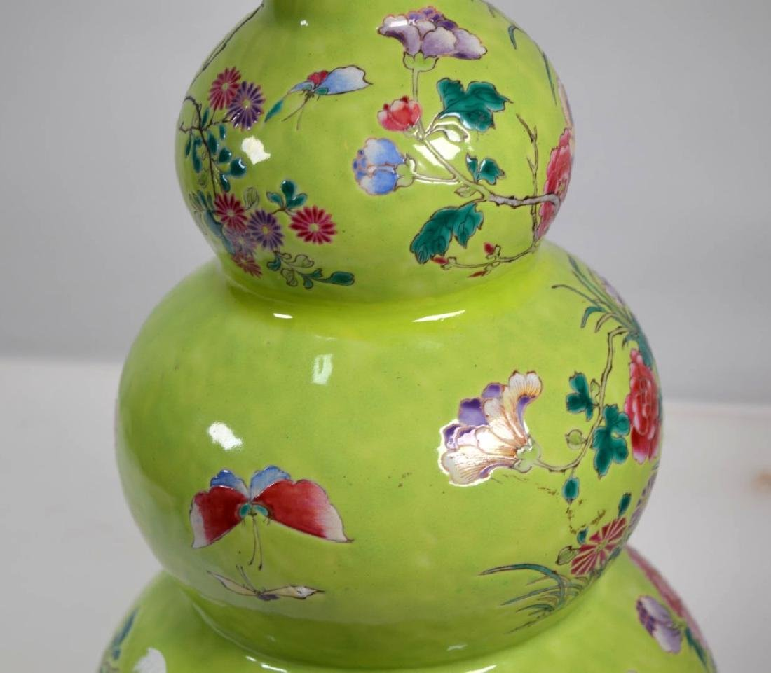 19th Century Chinese Porcelain Triple Gourd Vase - 5