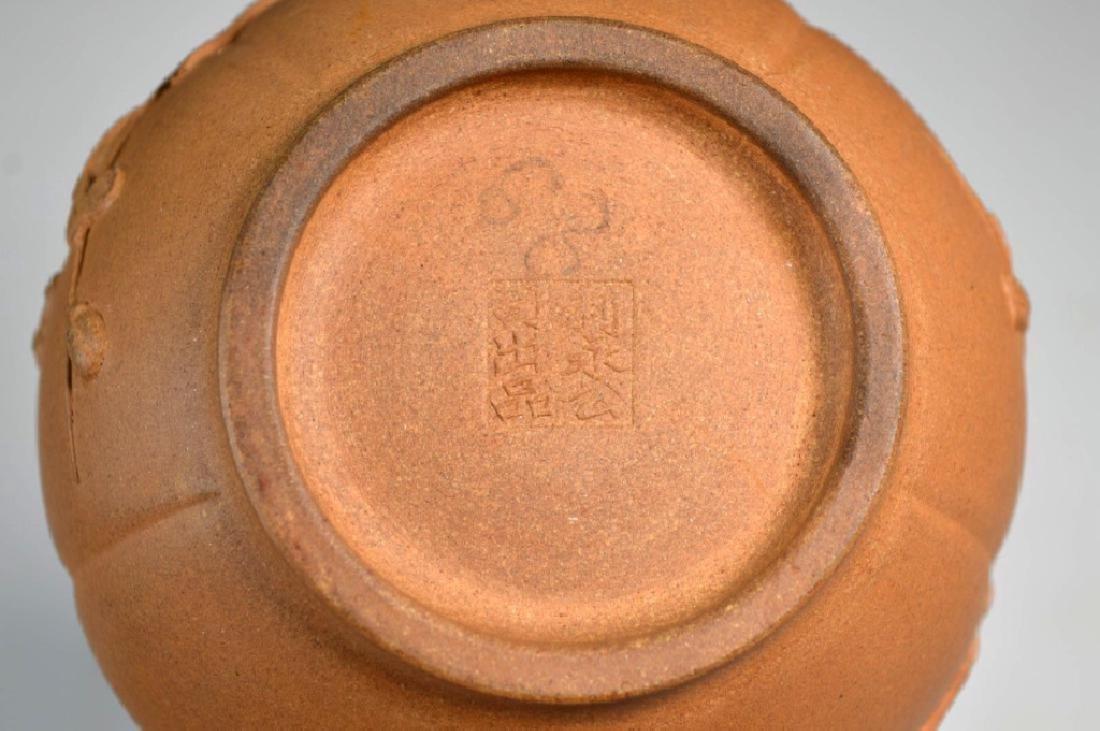 Kai Zheng Chinese Yixing Ceramic Teapot & Cover - 9