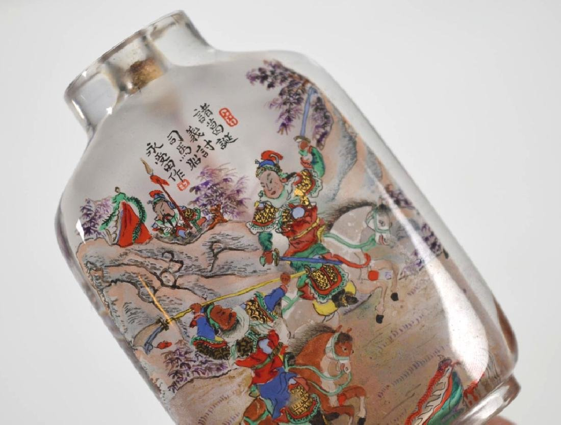 Yong Shoutien Chinese Crystal Inside-Painted Snuff - 4