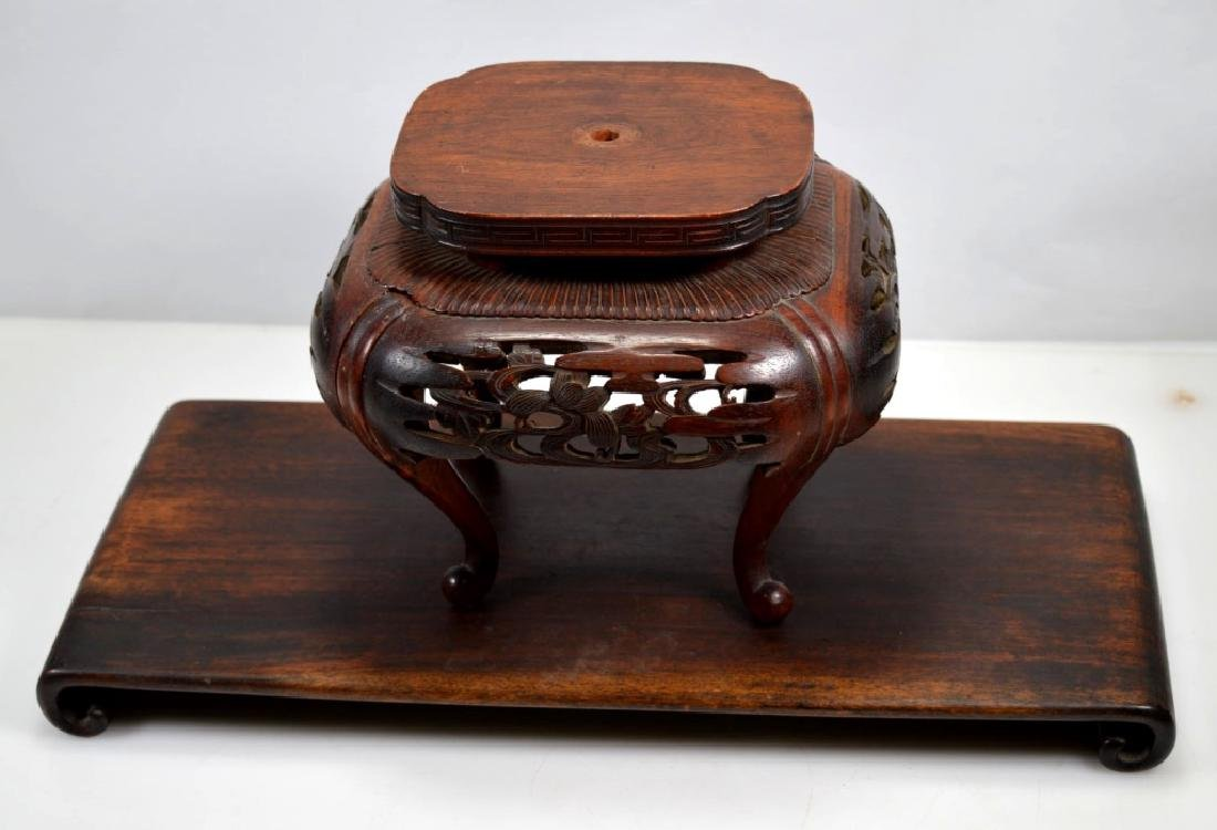 2 Chinese Hardwood Stands