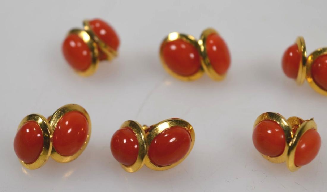6 Pr Coral & 14K Earrings; 2 Pendants; 15.5G - 3