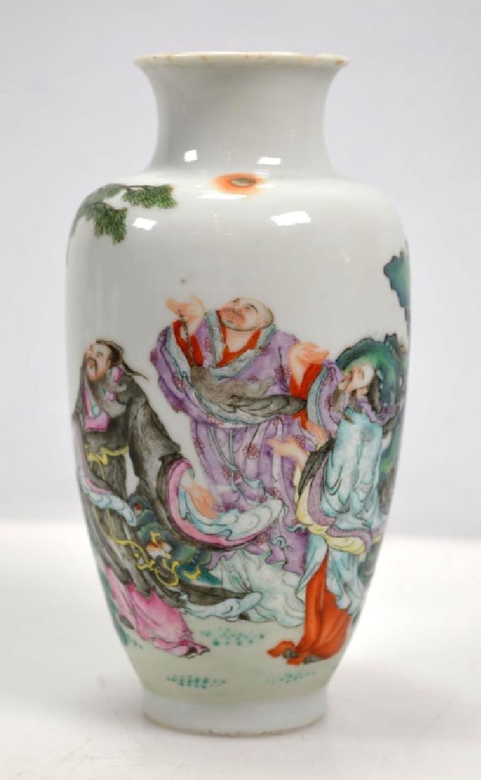 19th C Chinese Enameled Porcelain Cabinet Vase