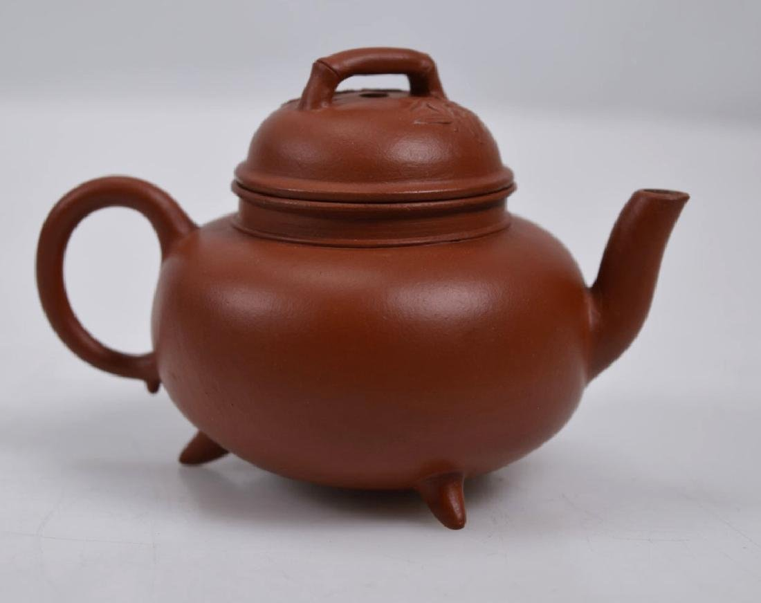 Fine 19th C Small Yixing Teapot & Cover - 2