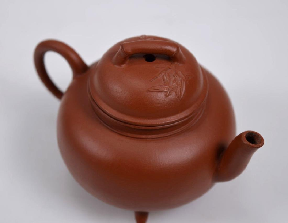 Fine 19th C Small Yixing Teapot & Cover - 3