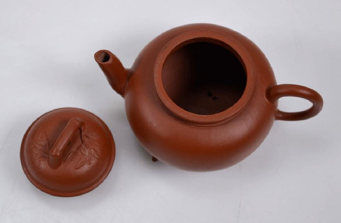Fine 19th C Small Yixing Teapot & Cover - 5