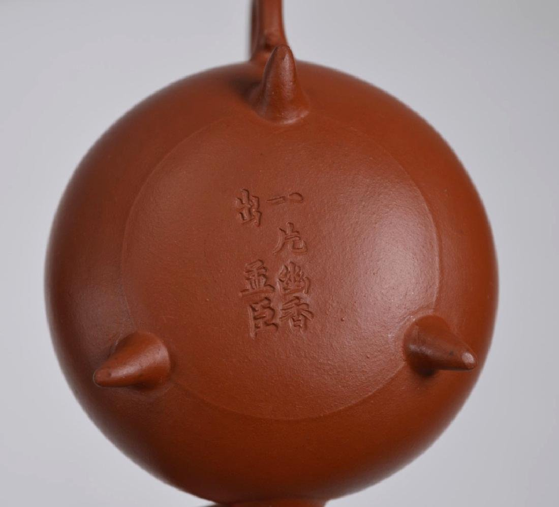 Fine 19th C Small Yixing Teapot & Cover - 6
