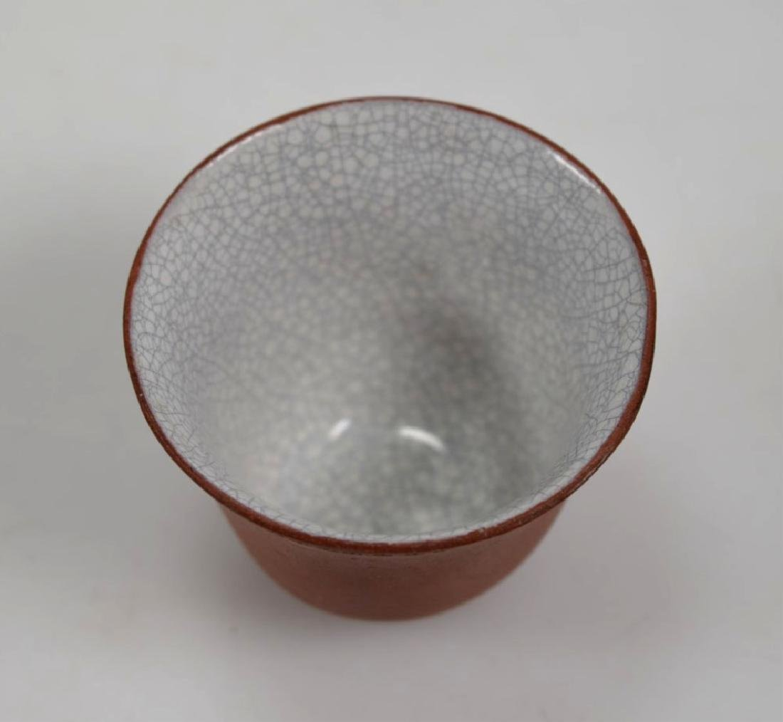 Fine Crackle Glazed Chinese Yixing Wine or Tea Cup - 7