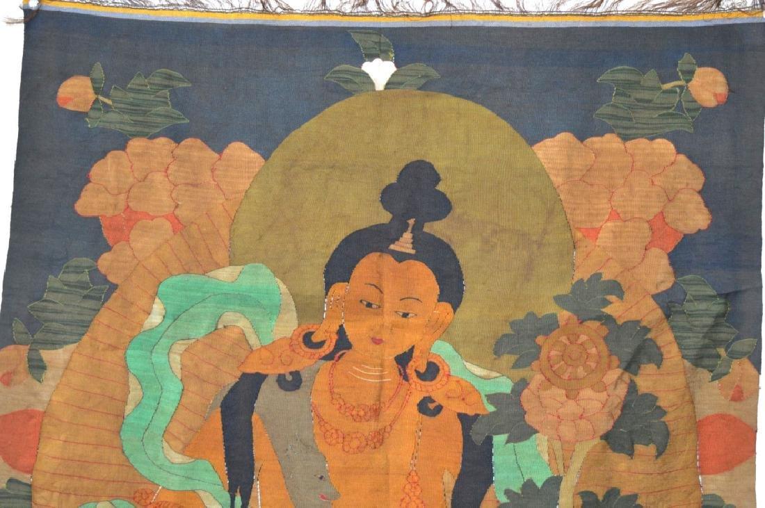 Rare Tibetan Kesi Silk Tapestry Thangka - 2