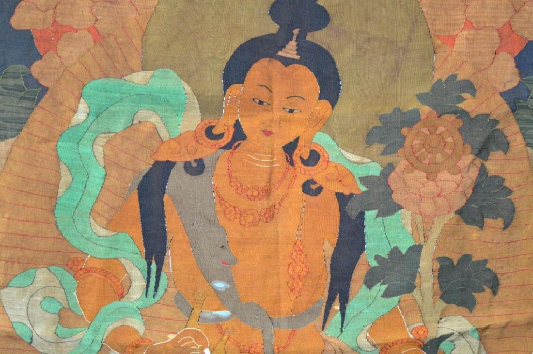 Rare Tibetan Kesi Silk Tapestry Thangka - 3