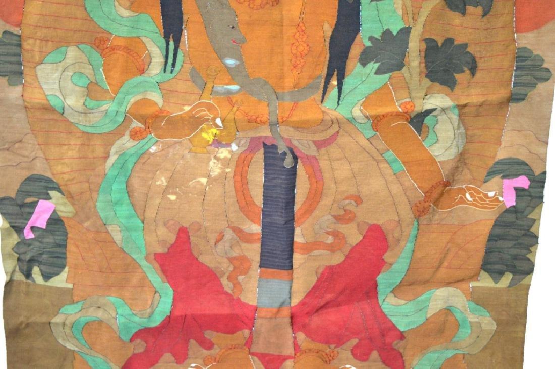 Rare Tibetan Kesi Silk Tapestry Thangka - 4