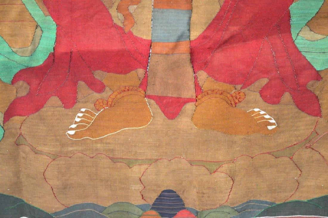 Rare Tibetan Kesi Silk Tapestry Thangka - 5
