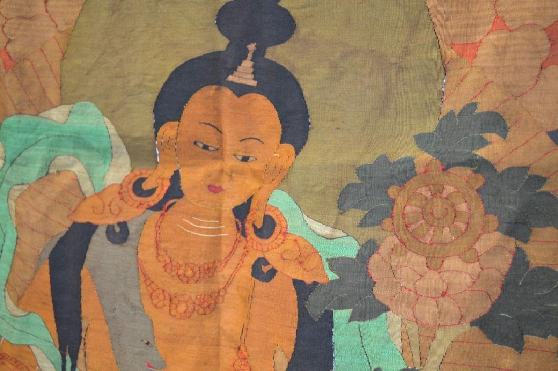 Rare Tibetan Kesi Silk Tapestry Thangka - 6