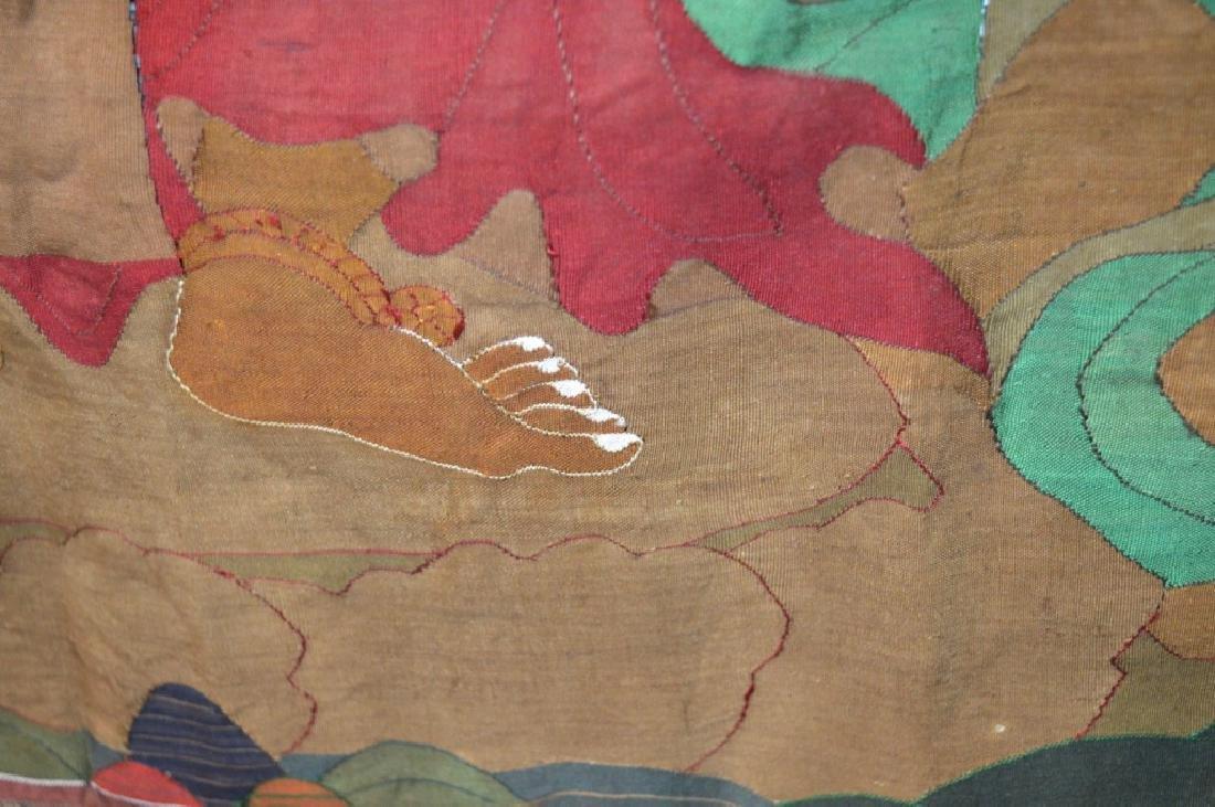 Rare Tibetan Kesi Silk Tapestry Thangka - 8