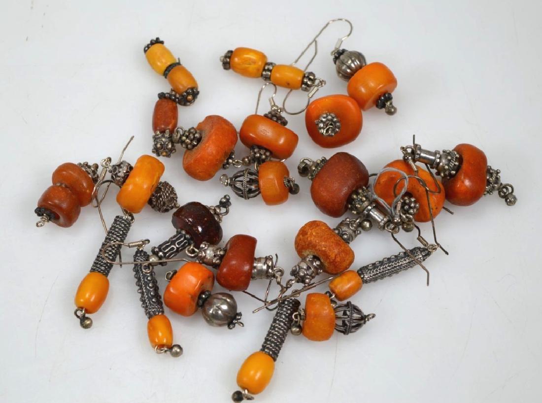 Assorted Butterscotch Amber Earrings; 125.6G