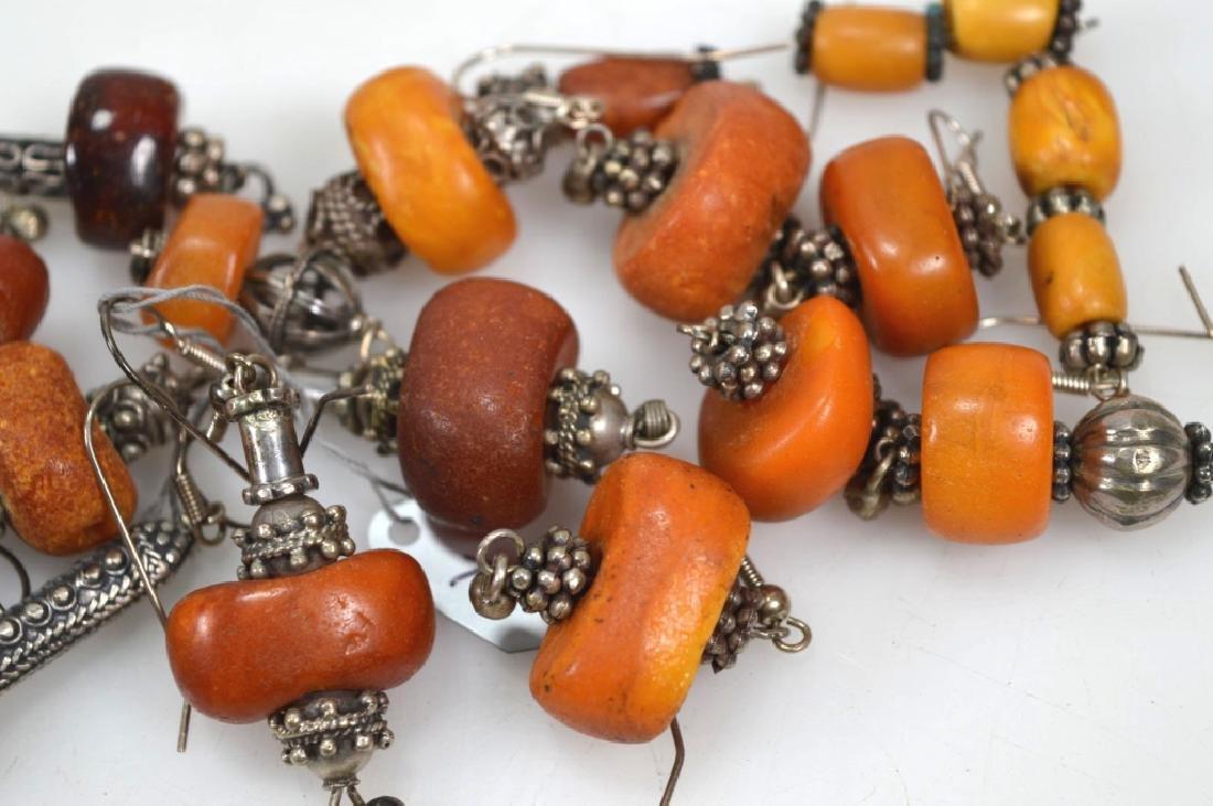 Assorted Butterscotch Amber Earrings; 125.6G - 2