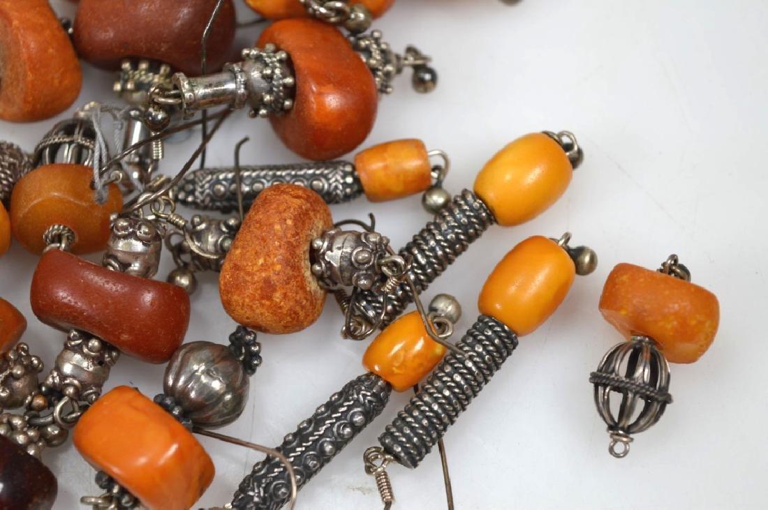 Assorted Butterscotch Amber Earrings; 125.6G - 3