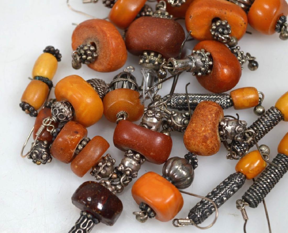 Assorted Butterscotch Amber Earrings; 125.6G - 4