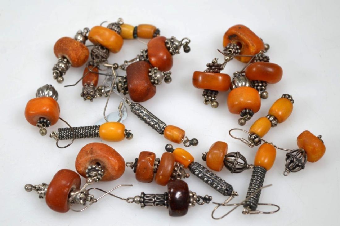 Assorted Butterscotch Amber Earrings; 125.6G - 5