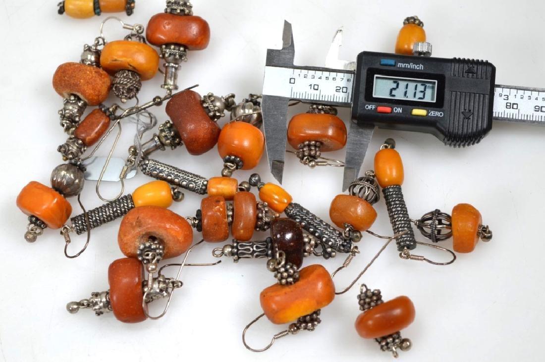Assorted Butterscotch Amber Earrings; 125.6G - 6