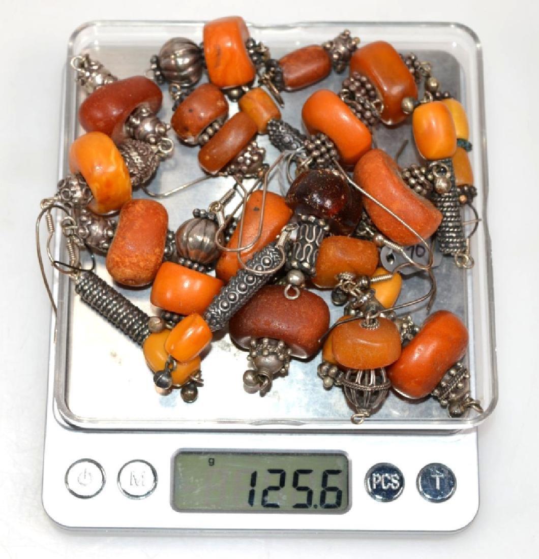 Assorted Butterscotch Amber Earrings; 125.6G - 7