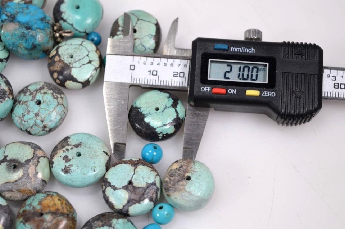 Assorted Carved & Round Turquoise Beads; 754G - 6