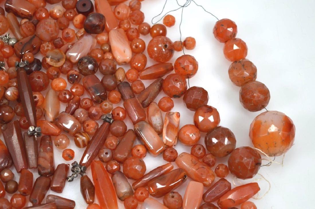 Assorted Carnelian Agate Beads; 1,280G - 5